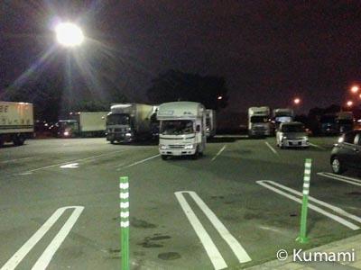駐車は明るい場所