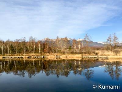 八ヶ岳ふれあい公園-池と八ヶ岳