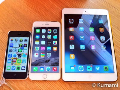 iPhone 5, 6+, iPad mini